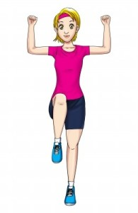 Avatar of woman exercising