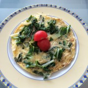 Omelet with Sautéed Beet Greens and Shallots