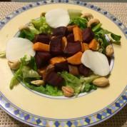 Roasted Beet and Sweet Potato Salad with Balsamic Dijon Vinaigrette