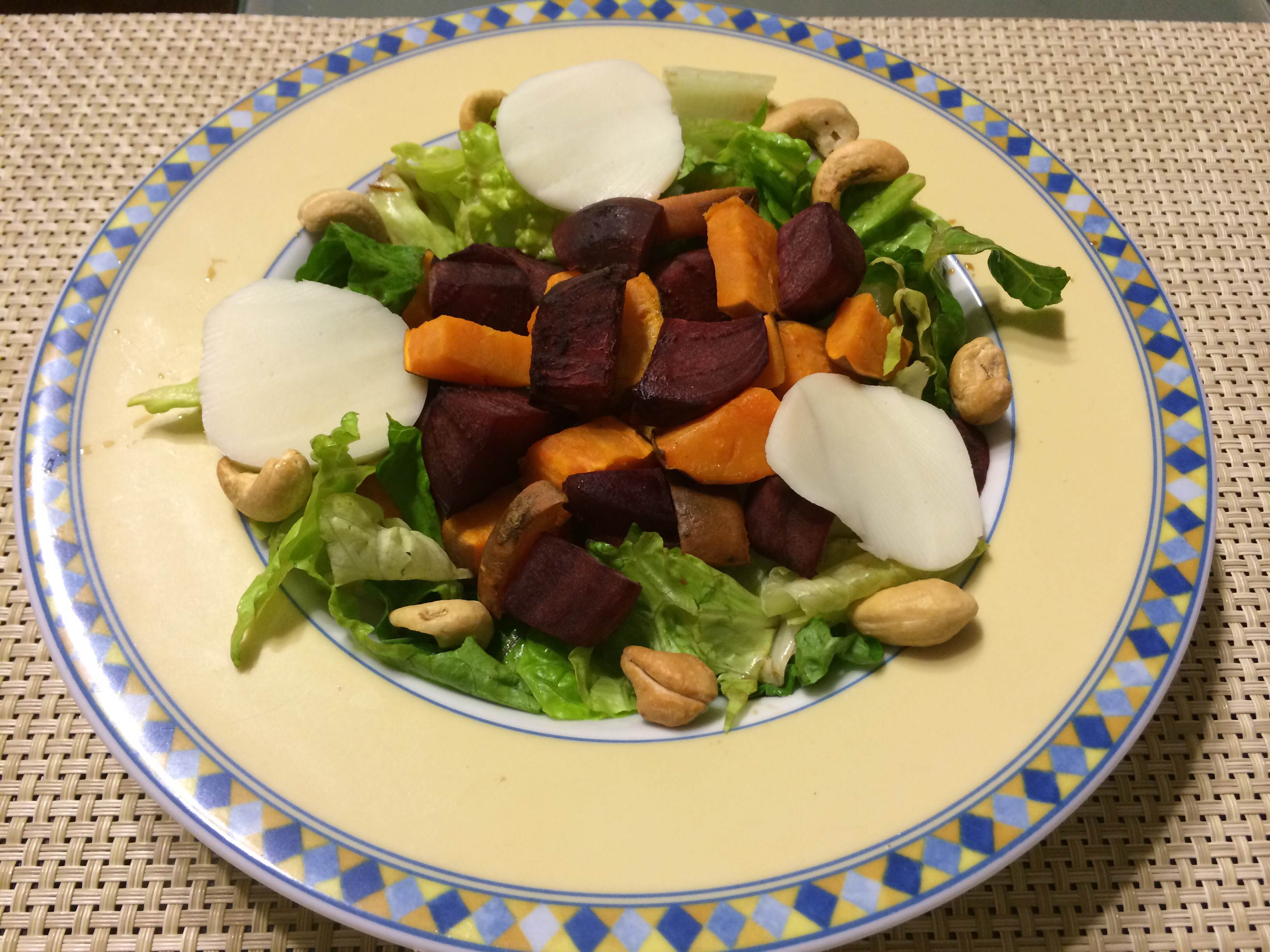 Roasted Beet and Sweet Potato Salad with Balsamic Dijon Vinaigrette ...