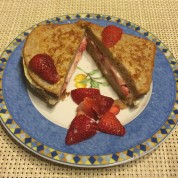 French Toast Sandwiches Stuffed with Strawberries and Greek Yogurt