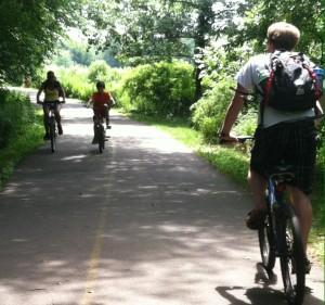 Bike riding-walking