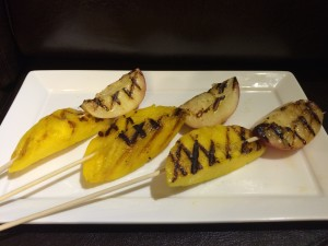 Grilled Mango Peach Skewers 1