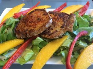 Mango Salad-Crusted Tuna 3