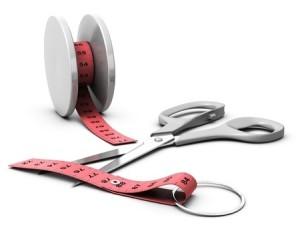 Yo-Yo measure tape w scissor