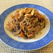 Cabbage Stir-Fry with Peanut Sauce