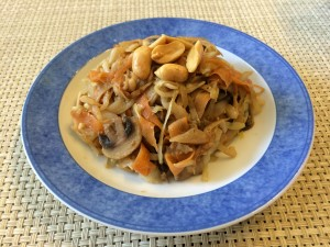 Cabbage Stir Fry with Peanut Sauce 2