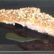 Almond Crusted Honey Mustard Salmon