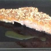 Almond Crusted Honey Mustard Salmon