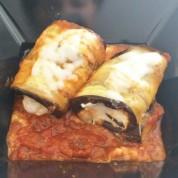 Ricotta Filled Eggplant Rollups