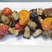 Roasted Eggplant and Heirloom Tomato Salad