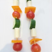 Vegetable Cheese Skewers