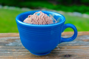 ice cream in mug