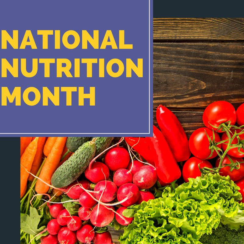 The Big 4 Celebrating National Nutrition Month Brg Health Bonnie R Giller Dietetics Nutrition P C